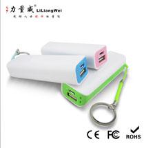 厂家订制 单节钥匙环挂绳移动电源 罗马式 携带方便 急应充电