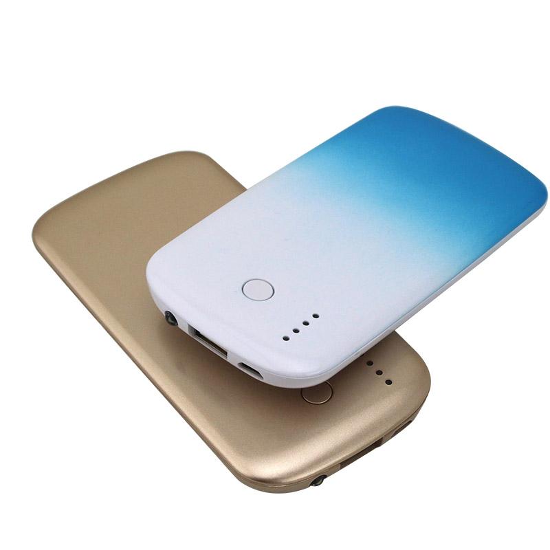 超薄移动电源聚合物4000毫安移动电源 带LED手电手机充电宝